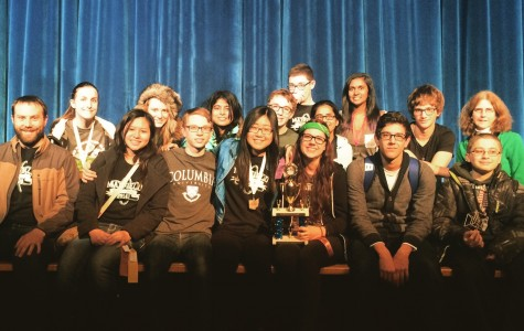 The Mayfield Science Olympiad team with their trophy. Photo provided by Steph Lamb