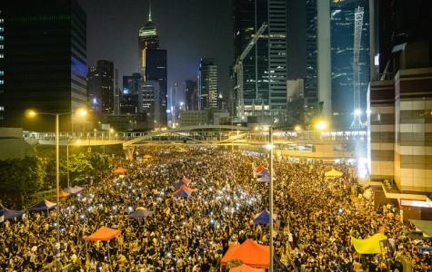 Tens of thousands of pro-democracy demonstrators gather in Hong Kong's Admiralty District on Friday, Oct. 10, 2014, after the government canceled talks with the Hong Kong Federation of Students. (Guillaume Payen/NurPhoto/Zuma Press/MCT)