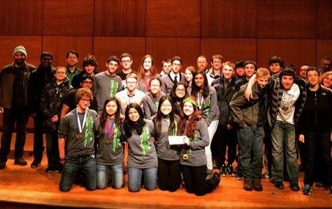 The Science Olympiad team after placing at the regional level at Case Western Reserve University. Photo by Stephanie Lamb