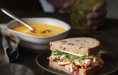 The Autumn Squash Soup and the new Roasted Turkey, Apple & Cheddar sandwhich are examples of items on Panera Bread's seasonal fall menu.