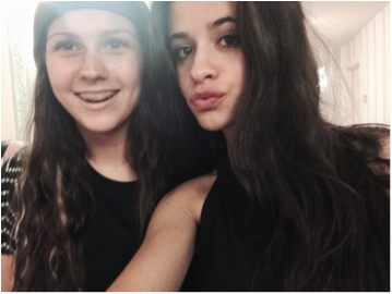 Andrea Melaragno gets a selfie with Camila Cabello from Fifth Harmony.