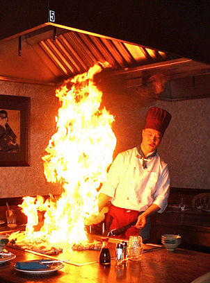 A Hibachi chef cooking up a meal. Photo from Hibachi website.