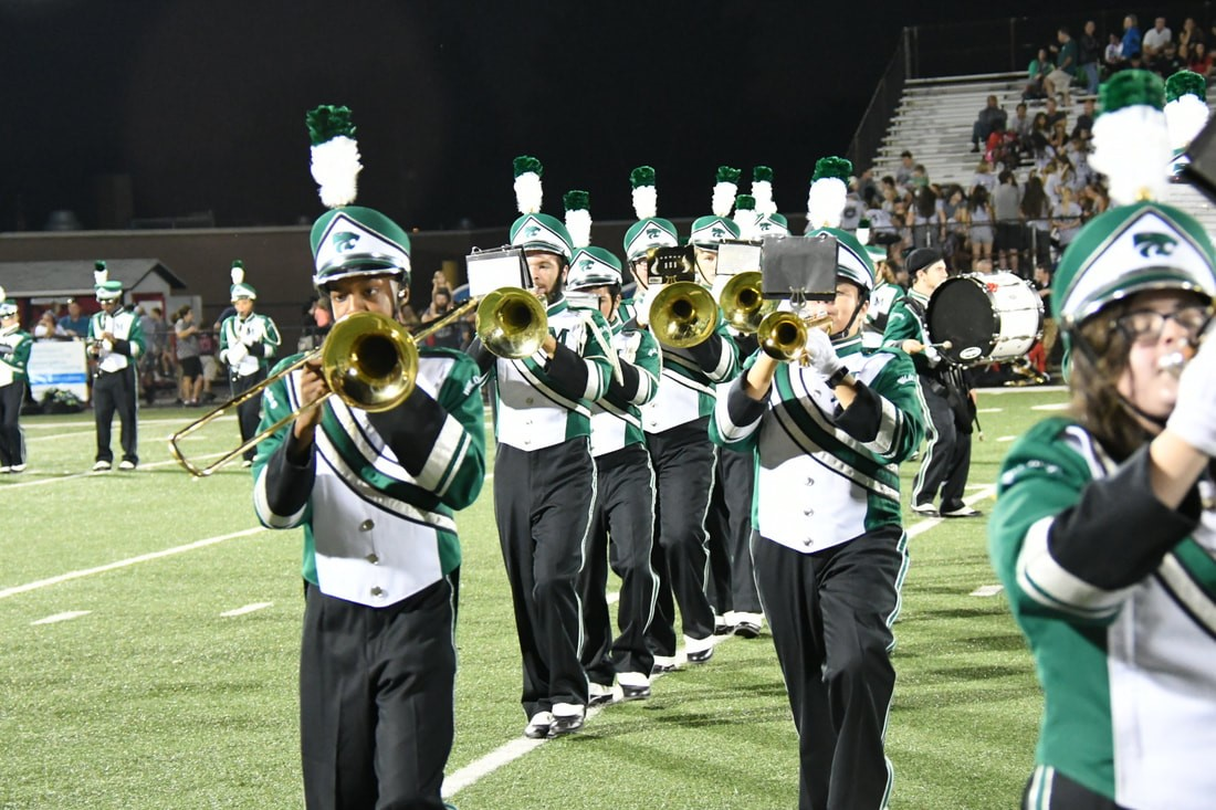When the band takes the field on Friday nights, they make more than music.  According to band members, they make friends too.