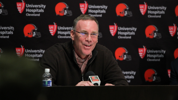 New Browns general manager John Dorsey at his introductory press conference. Photo from Cleveland Browns official website.