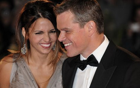 Matt Damon, pictured with his wife in 2009, says he respects women and wants people to know there are good guys in Hollywood.