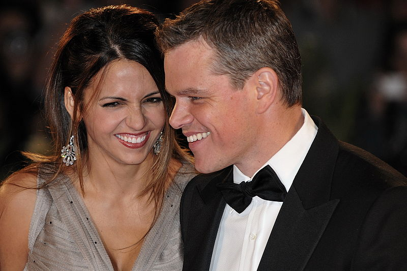 Matt+Damon%2C+pictured+with+his+wife+in+2009%2C+says+he+respects+women+and+wants+people+to+know+there+are+good+guys+in+Hollywood.