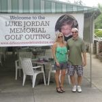 Karen and Bret Jordan prepare to raise money at the annual Luke Jordan Memorial Golf Outing.