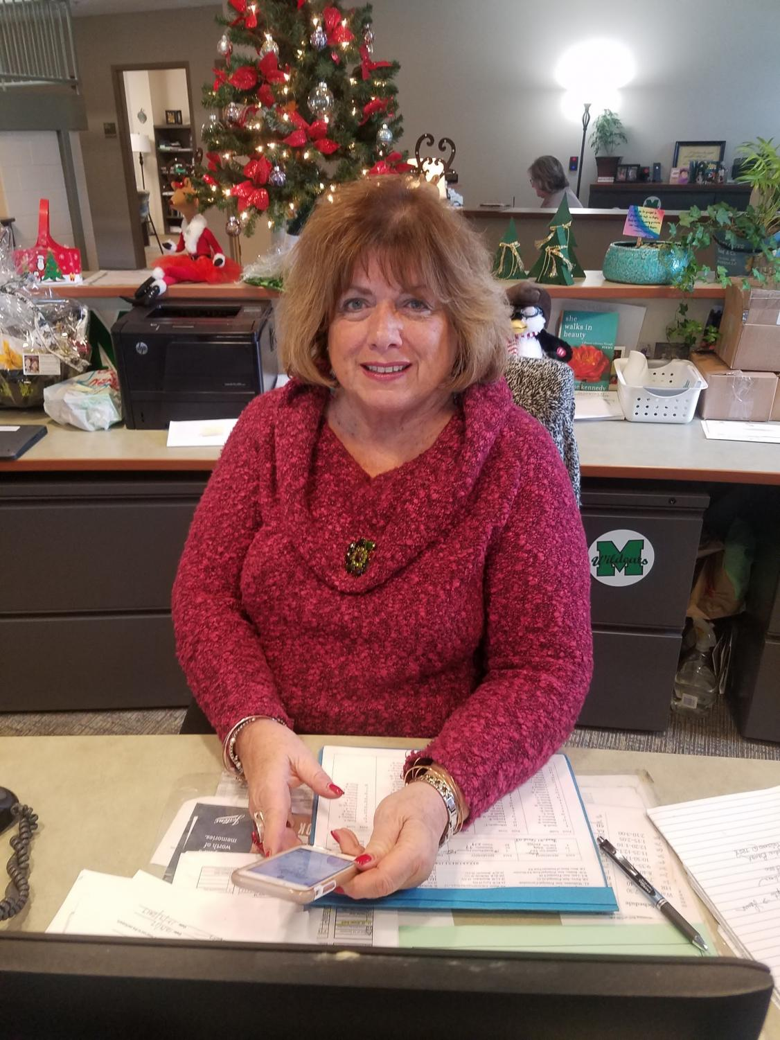 Toni Shoda, administrative assistant, is anxious to visit the Carolinas over break.