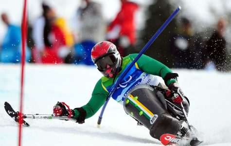 Australian Shannon Dallas competes in the slalom event at the Vancouver Paralympics in 2010.
