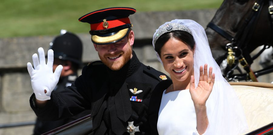 Prince+Harry+and+Meghan+Markle+ride+in+an+Ascot+Landau+after+their+wedding+ceremony+to+Prince+Harry+at+St.+George%27s+Chapel+in+Windsor+Castle.