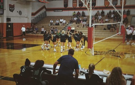 Volleyball team hosts Dig Pink game