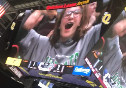 Sophomore put on jumbotron at Monsters game