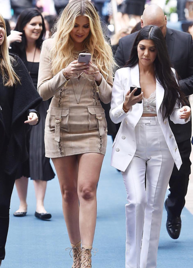 GET+CONNECTED%3A+Kardashian+sisters+Khloe+and+Kourtney+focus+on+their+social+media+empires.+
