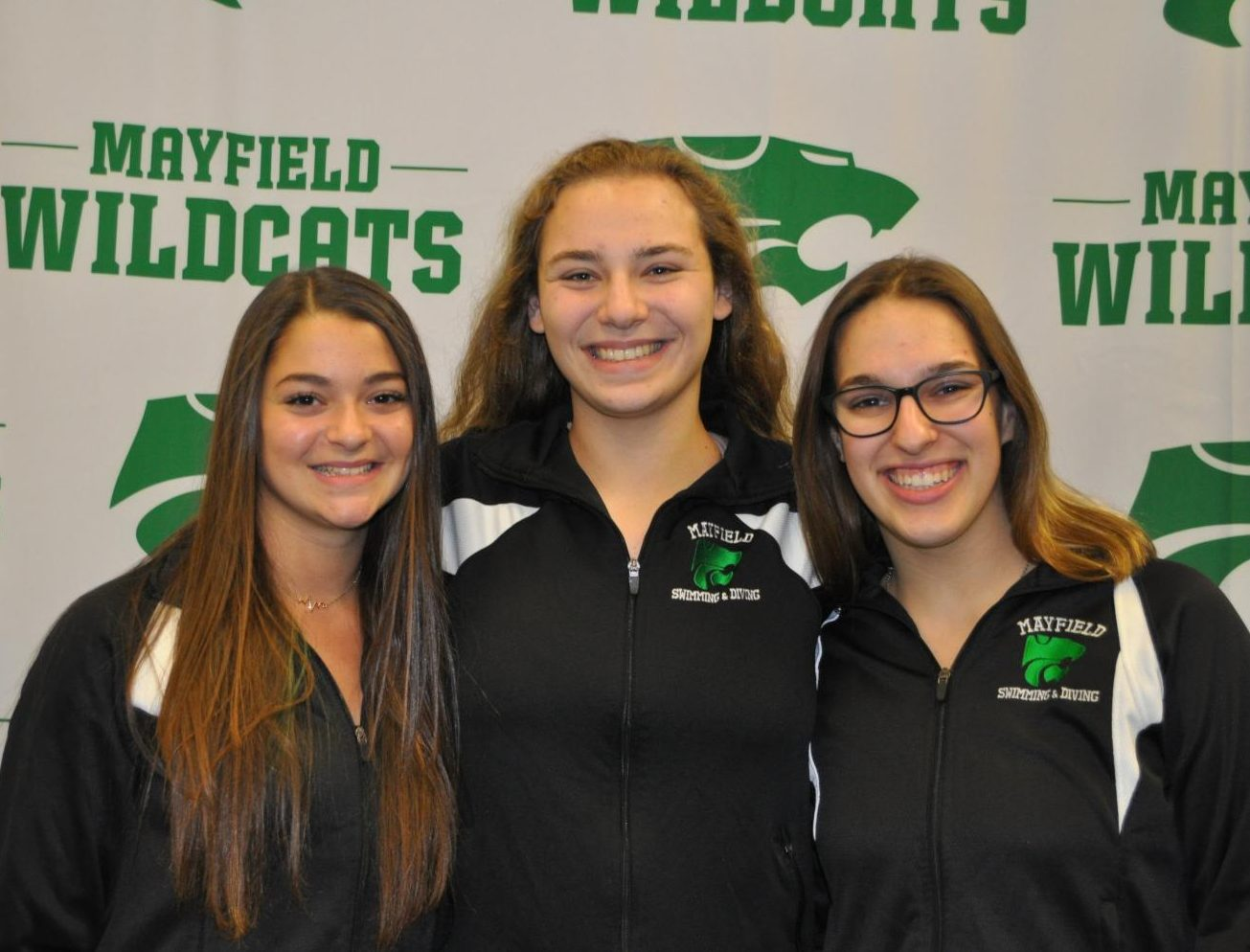 Gianna Ferrante, Karen Argie, and Maria Regas are poised to begin the new swim season.  The three attended Media Day on Friday, Nov. 2 to discuss the upcoming season.