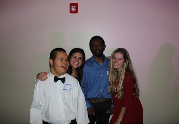 Vladis Alimova and Hannah Bright are enjoying their time with the CEVEC students at the celebration.
