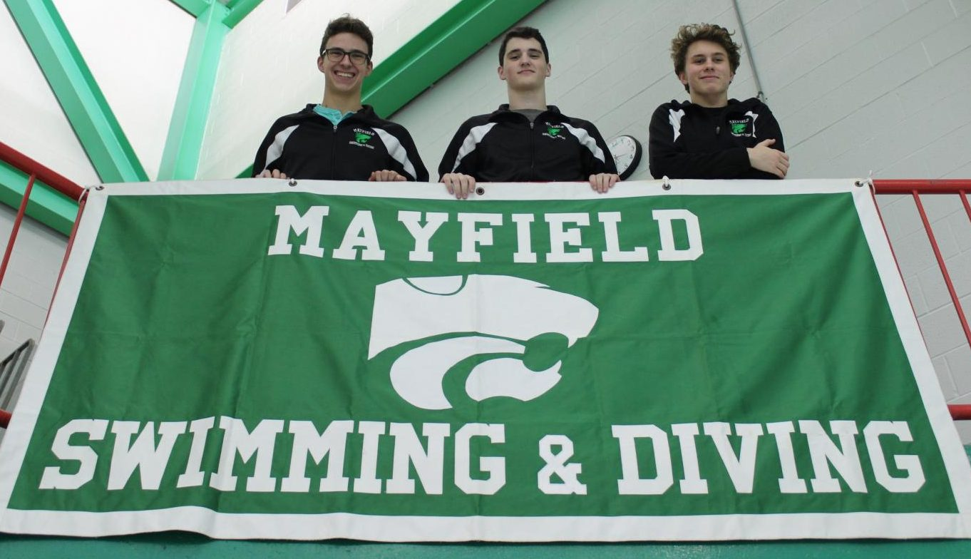 Kevin Morgan, Jack Milroy, and Jordan Kabb are three senior leaders on the swim team this year. All three attended Media Day on Friday, Nov. 2.