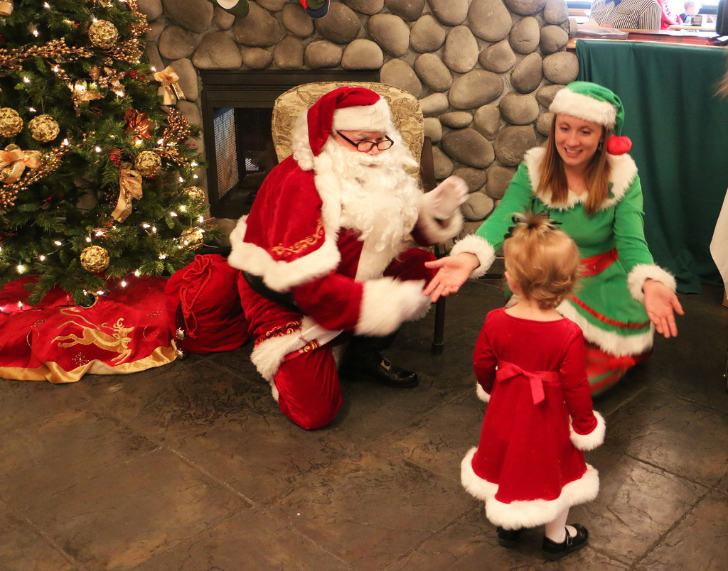 Kids meet Santa just in time for the holidays