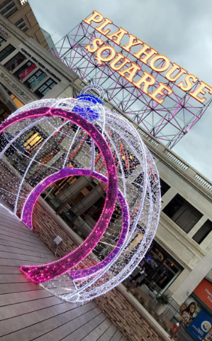 Playhouse Square where the Wellendorf family enjoys plays during the Christmas season