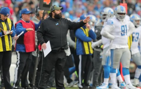 Matt Patricia coaches the Lions against the Buffalo Bills on Sunday, Dec. 16.  After his team lost, Patricia came under fire for using foul language in a radio interview.