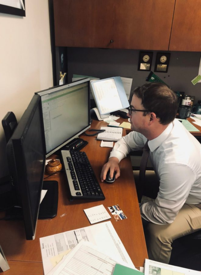 Assistant Principal Jarrod Mulheman is responsible for making student schedules for next year, including those involved with Self-Paced 2.0.