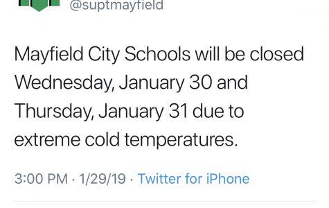 Dr. Kelly closes school due to sub-zero temps