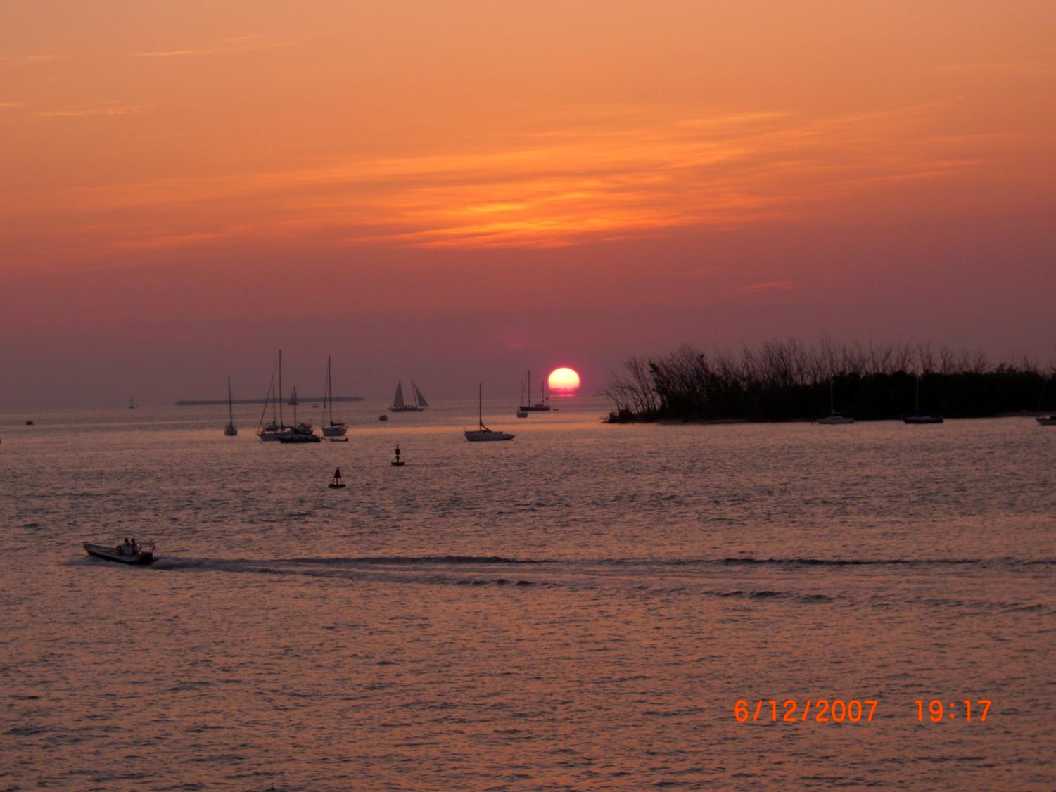 Sunset over Key West Marina