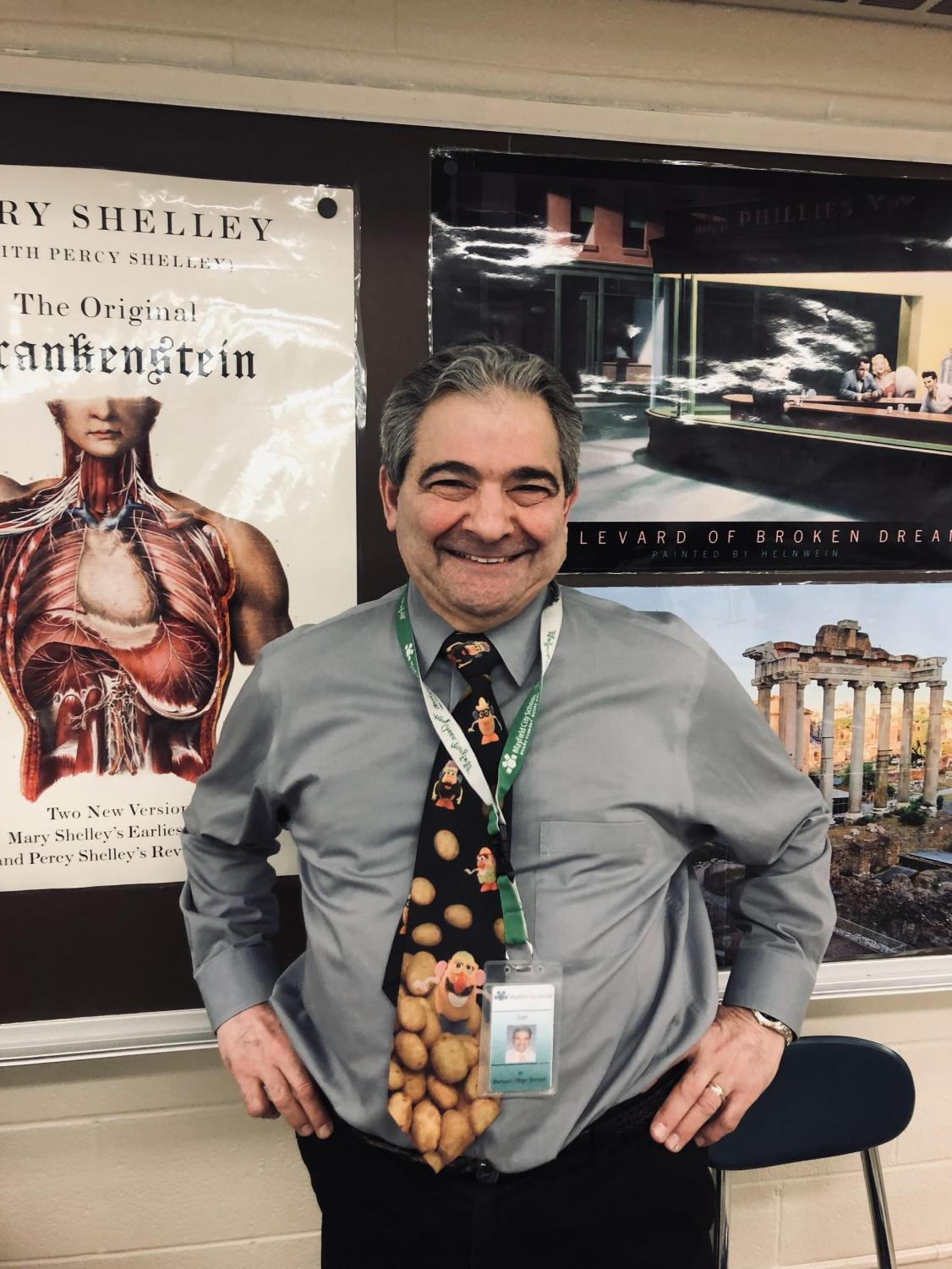 English teacher Al Bartucci has plenty to smile about, as he's in his final nine weeks of teaching.