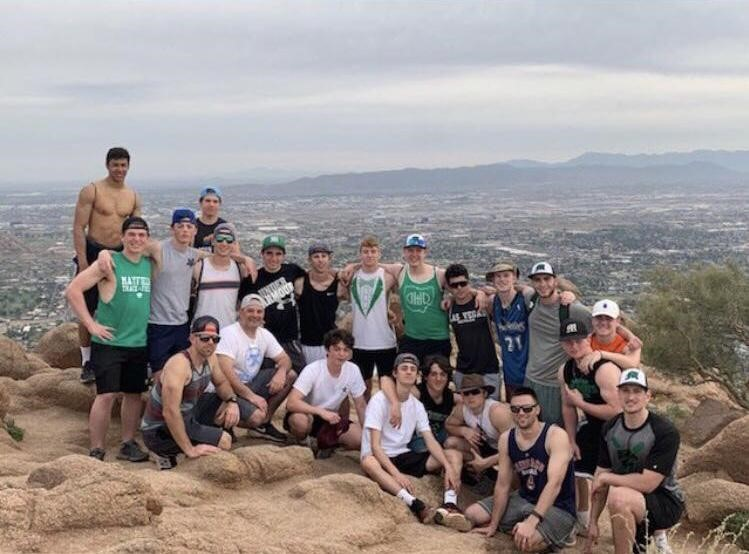 The+boys+varsity+baseball+team+hiked+to+the+top+of+Camelback+Mountain+with+their+coaches.++The+mountain+is+also+known+as+Big+Pocono+and+is+located+on+the+Pocono+Plateau.