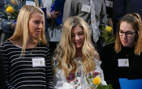 Seniors Cassie Lewis, Hannah Bright, and Maria Regas, who participated in the NHS Induction Ceremony in the fall, are just three of more than 300 seniors who could win a possible senior superlative award.