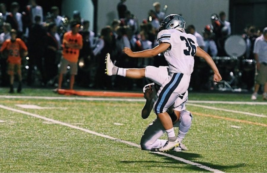 Senior Anna Sanders from Kenston High School was the first female to ever score a point in Ohio high school football state championship history.