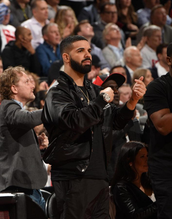 Drake+attends+nearly+every+home+game+for+the+Toronto+Raptors%2C+but+his+aggressiveness+to+step+onto+the+court+and+heckle+the+players+has+crossed+the+line.