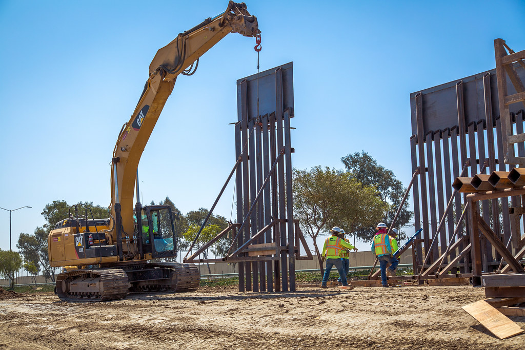 Construction workers are adding border walls across the south.  A new border wall built on private property in New Mexico, however, is causing new controversy.