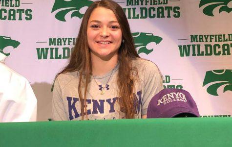 Senior swimmer commits to Kenyon