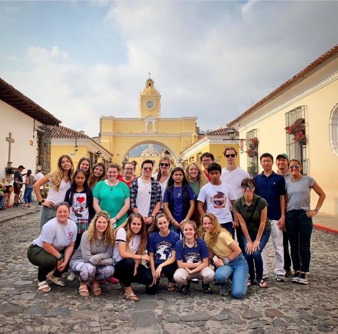 After working in zone 3 communities for 5 days, students took a one day excursion to Antigua where they visited many tourist destinations such as the Santa Catalina Arch.