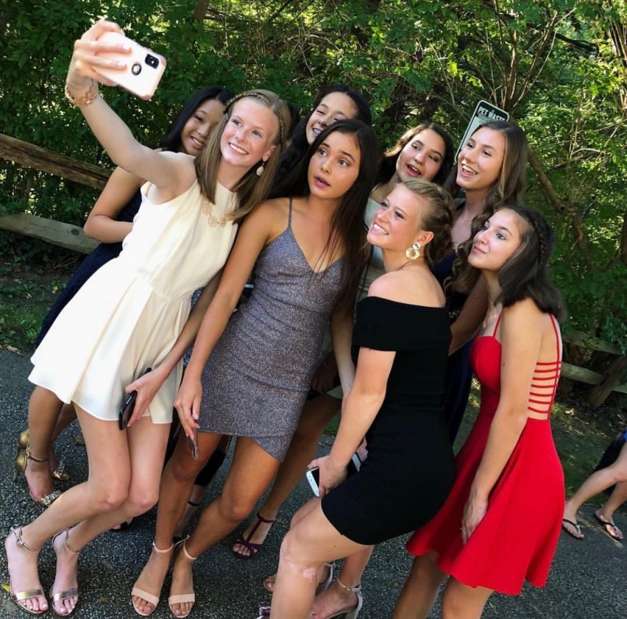 Last year, homecoming was early in the school year, which allowed many students to take outdoor photos before the dance.
