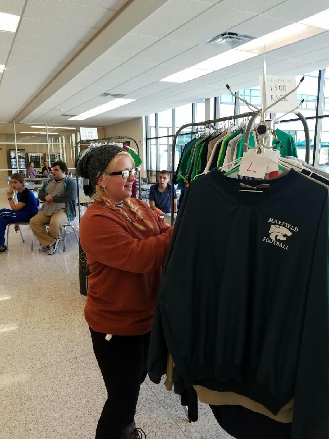 FUSE Club sold items in the the cafeteria for two days during Homecoming week.