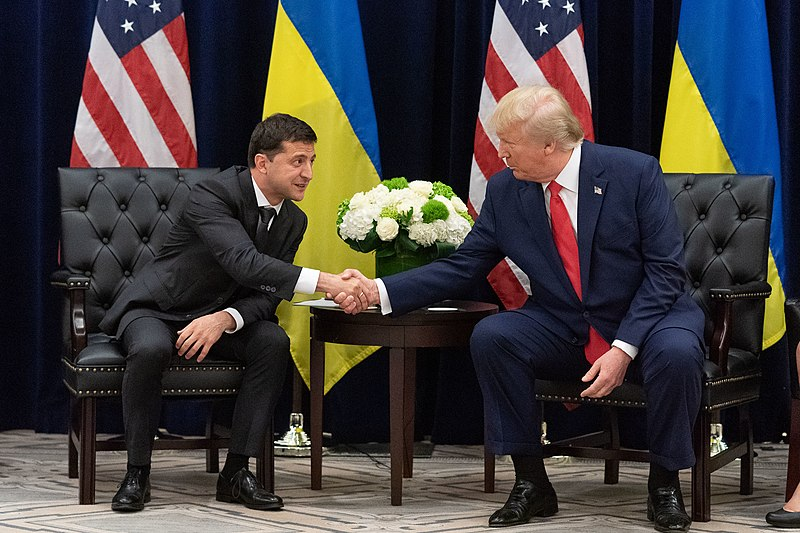 President+Trump%2C+who+met+with+Ukraine+President+Zelensky+in+September%2C+could+be+impeached+despite+overwhelming+support+from+his+base+who+say+they%27ll+still+vote+for+him+in+2020.+