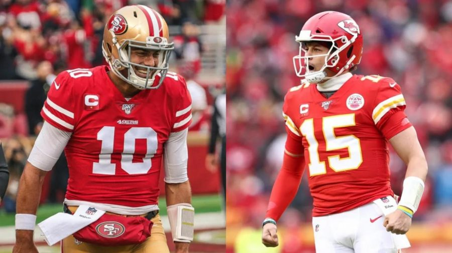 Chiefs QB Patrick Mahomes and 49ers QB Jimmy Garoppolo look to duel it out in Miami for the Lombardi Trophy on the first Sunday of February.