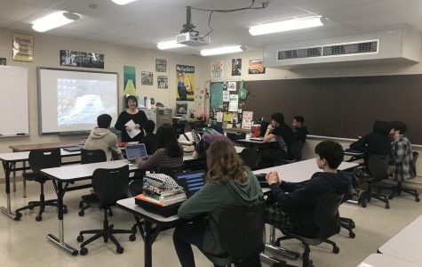 Hello, My Name Is...  Ms. Jennifer Cioffi talks to her class about making effective speeches in her Communications class.