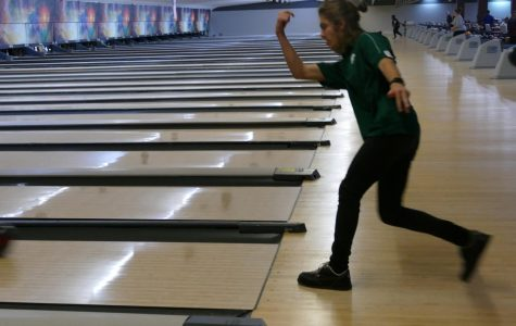 KNOCK THOSE PINS DOWN: Senior Isaac Hatten competes at Freeway Lanes during a match this season.   Hatten competes in the state tournament on Feb. 22.