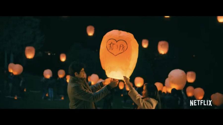 Lara+Jean+and+Peter+Kavinsky+participate+in+a+local+lantern+festival.
