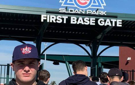 Varsity baseball player competes in Arizona showcase