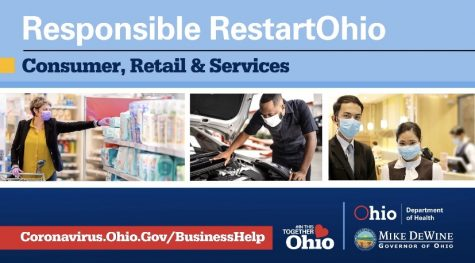 "Beginning in May, businesses will slowly begin to open again.   Consumer, retail, and services are set to open on May 12, except for restaurants and salons.   DeWine said on Twitter, ""We"