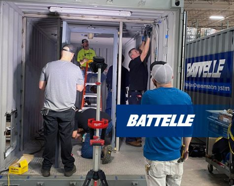 Battelle employees build a Battelle CCDS Critical Care Decontamination System™