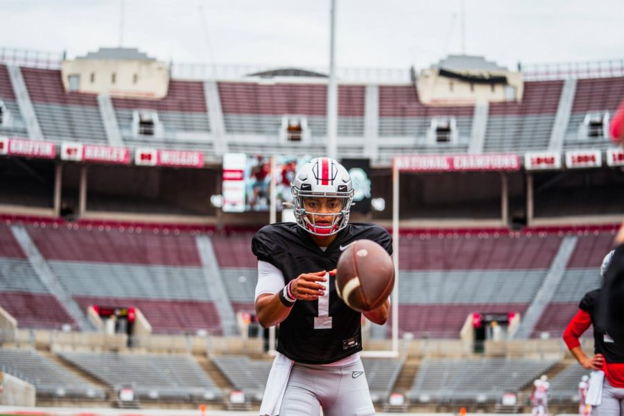 Justin Fields returns as the Buckeyes' top offensive talent.  Ohio State begins the season Saturday against Nebraska.