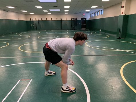 Sophomore Anthony Santoro is trying to lose 15 pounds in the month of February to wrestle at a lighter weight class.