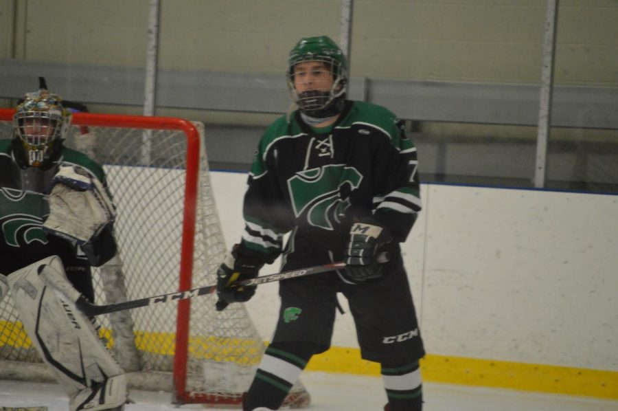 Senior Gavin Anselmo stands ready as one of the team's defenders.