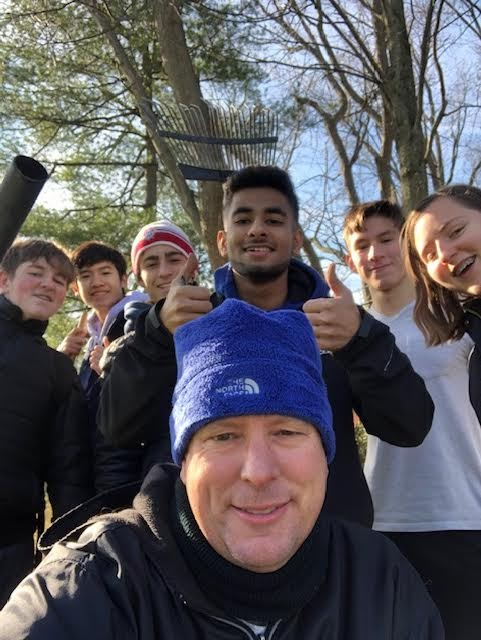 Assistant club adviser Jerry Turk and Interact Club members were able to help with multiple community projects last year, before the start of the COVID-19 pandemic.