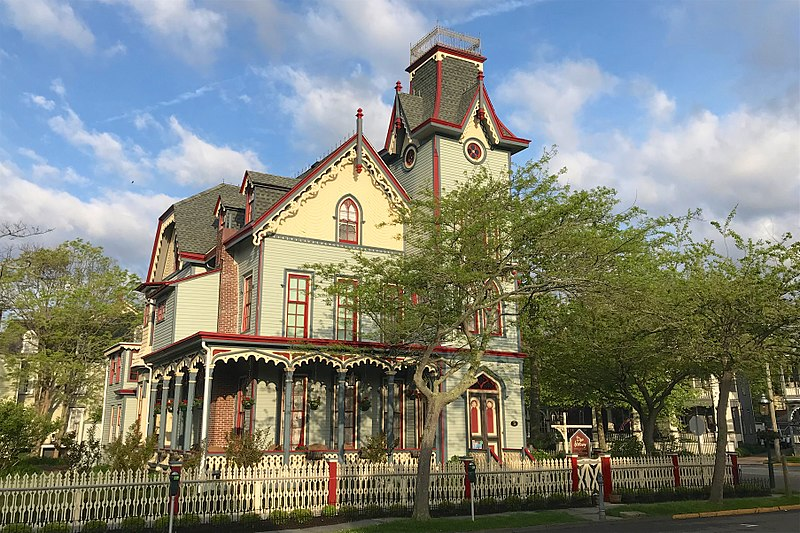 English teacher Lacy Long-Goldberg enjoys much of the scenery in Cape May, especially the town's historic homes.
