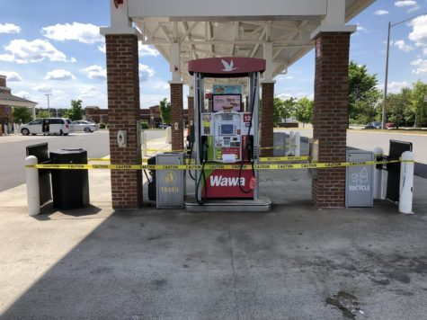 A gas station in Fairfax County, Virginia is closed on May 15 due to the gas shortage.